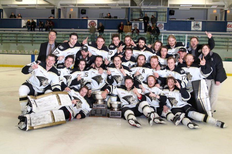 Photo taken from Doug Wynd's Facebook Men's Ice Hockey team after their victory last night