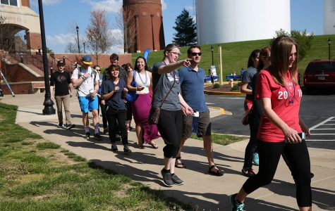 Photo by Ana Castillo Active Minds' Out of the Darkness walk began at the Spellmann Center