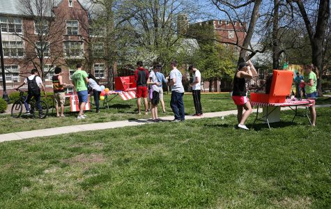 Photo by Carly Fristoe Lindenwood students enjoyed games and fair weather at CAB's safari-themed Spring Carnival