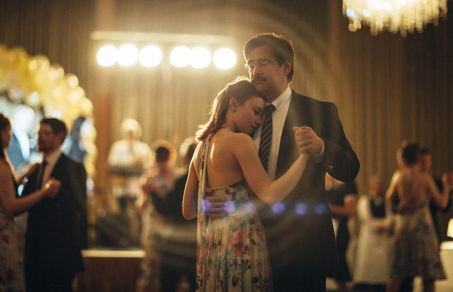 Photo+courtesy+of+A24%0ADavid+%28Colin+Farrell%2C+right%29+tries+to+woo+Nosebleed+Girl+%28Jessica+Barden%29+at+the+Hotels+dance+in+The+Lobster.