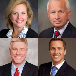 Candidates for Governor of Missouri are (clockwise from top left): Catherine Hanaway, John Brunner, Eric Greitens, Peter Kinder Photos provided by Facebook