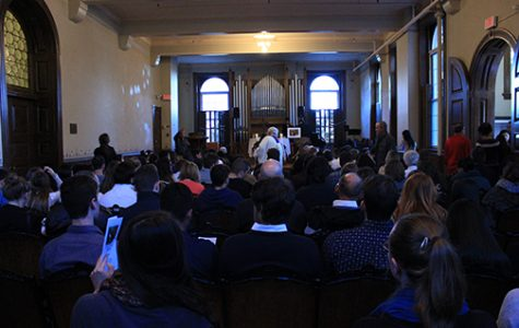Approximately 250 people attended the service in Sibley Chapel late Wednesday afternoon. <br />  Photo by Lindsey Fiala