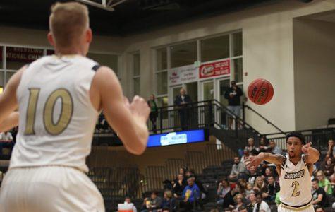 Men's basketball tops Robert Morris-Springfield in dominant performance