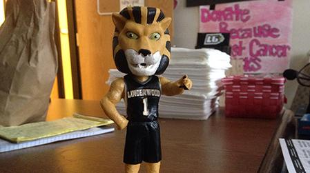 The bobbleheads will be given out to the first 1,000 fans at the basketball games on Jan. 7.  Photo courtesy of Drew Hill