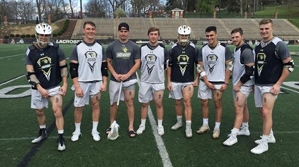 Members+of+the+Lindenwood+lacrosse+team+show+their+tattoos+in+honor+of+Isaiah+Kozak+who+took+his+own+life+in+March+2017.++Photo+by+Madi+Nolte