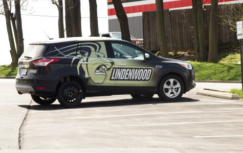 One of the Lindenwood admissions cars with a