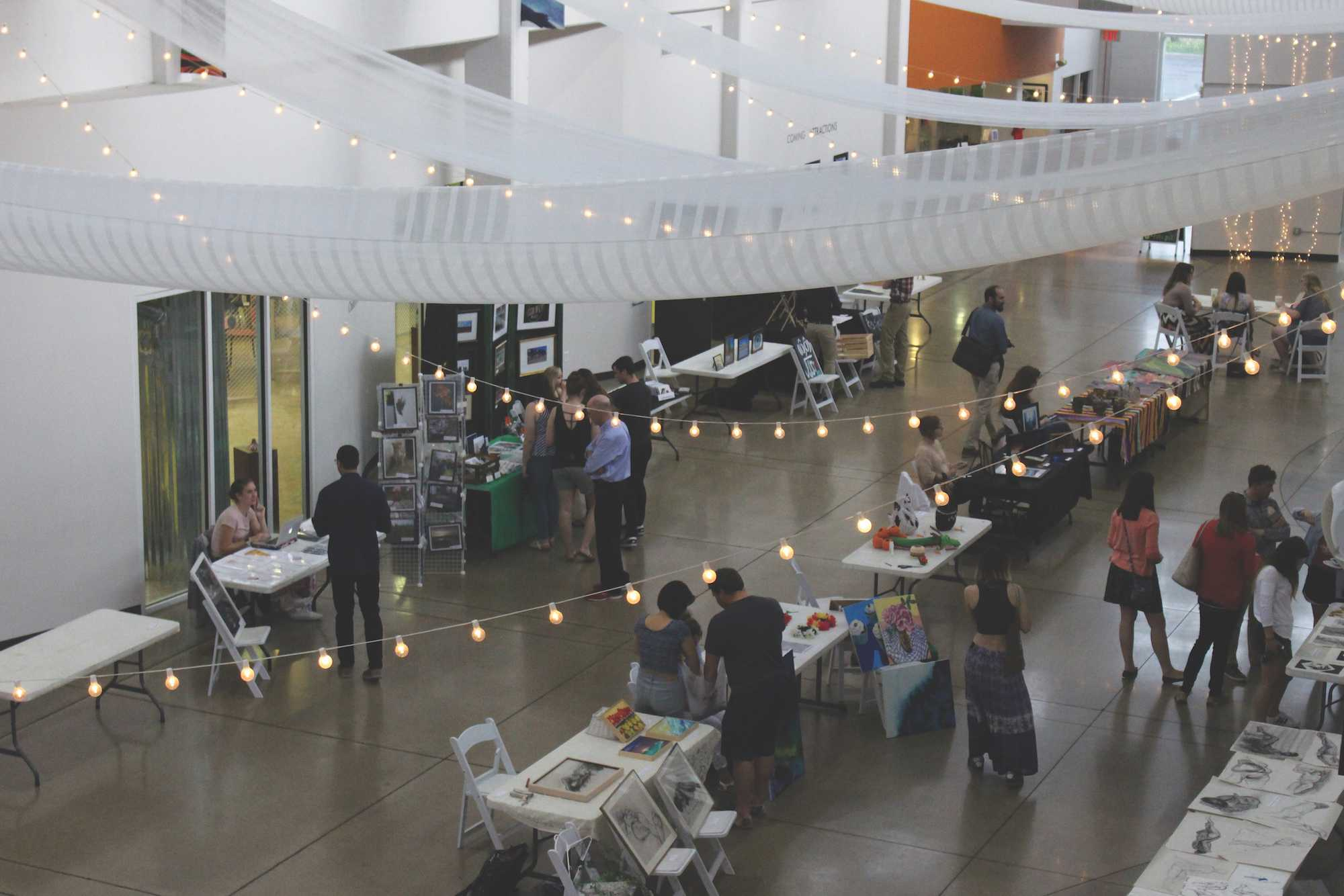 The Grand Art Bazaar brought Lindenwood students and community members together at the Foundry Art Center on Thursday.  Photo by Kyle Rainey