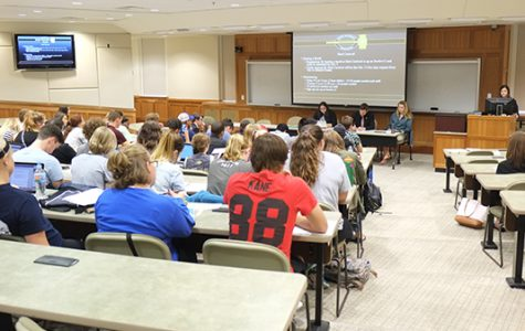 LSGA meets on a weekly basis in Dunseth Auditorium throughout each semester.<br>Photo by Nao Enomoto