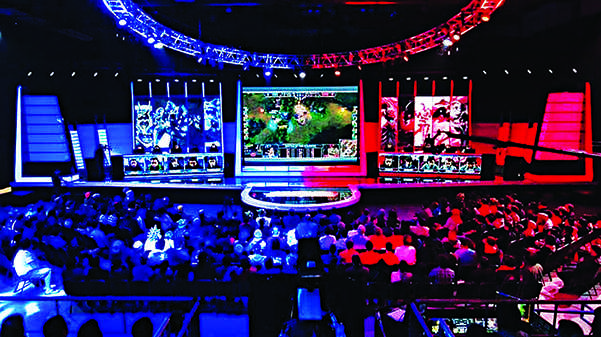 Commonplace eSports athletes compete at the 2016 League of Legends North American Championship Series.Photo from Wikimedia
