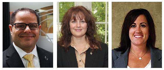 Three Lindenwood officials, from left, Joe Parisi, Cynthia Bice and Kristen Revis, have resigned from their positions this summer.
