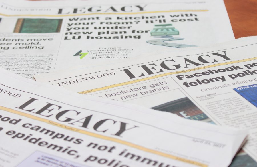 The Legacy student newspaper published its last weekly addition on April 25. The Legacy started publishing in March, 2007 . Photo illustration by Kyle Rainey.