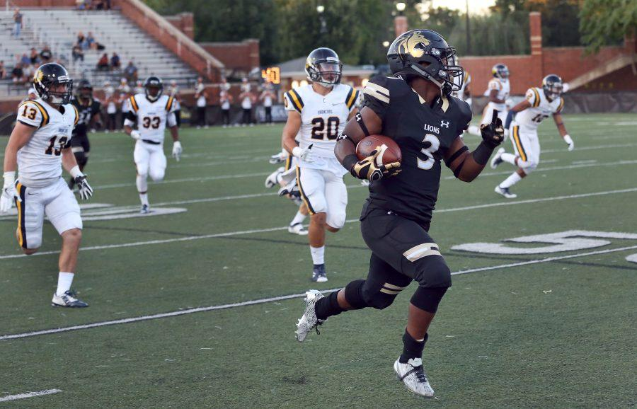 In last year's game against the University of Central Oklahoma, Kendell Sparks (3) was named Special Teams Player of the Week for Lindenwood.