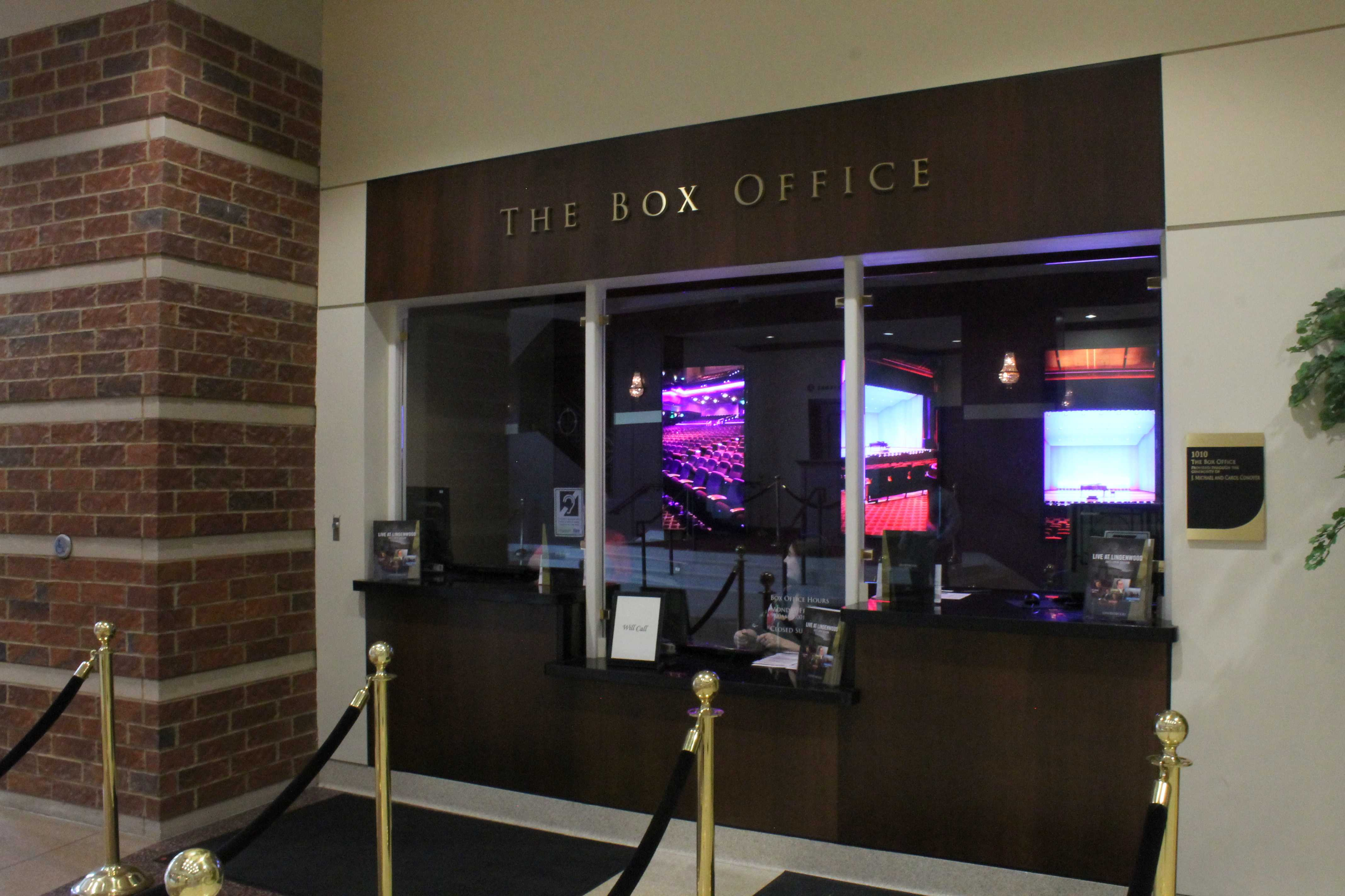 Lindenwood box office is located in the lobby of the J. Scheidegger Center. It's open from Monday to Friday 9 a.m. to 5 p.m. and on the nights of shows also two hours prior to the show.   Photo by Essi Auguste Virtanen