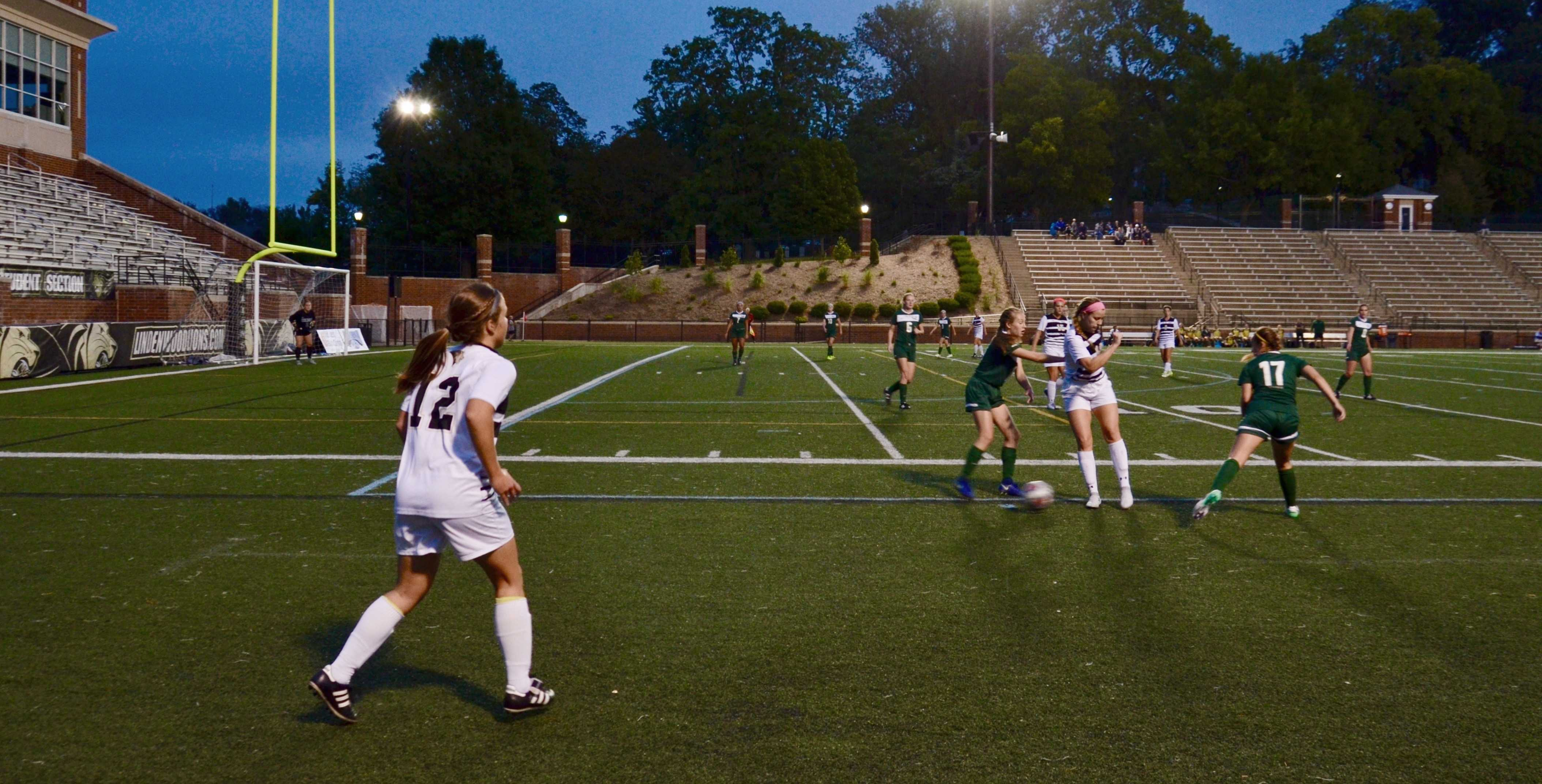 Becky Roberts gains possession over the ball during the game against Missouri S&T on Sept 12. Roberts scored on Friday night in 2-1 loss.  Photo by Rolando Dupuy
