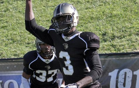 Pierre Desir playing in a game as a Lindenwood Lion. Desir was placed on injured reserve by the Colts on Dec. 4 2017 <br> Photo by Lindenwood Athletics.
