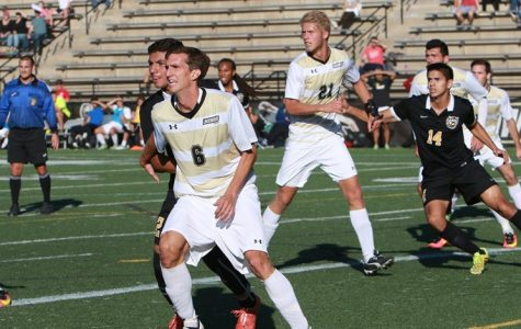 Stefan Andric's (No. 21) two goals lifted Lindenwood to a 3-1 win over Ouachita Baptist University on Sept. 15. <br> Photo by Lindenwood Athletics