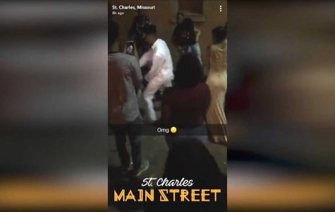 A bystander on Main Street was able to capture the fight on Snapchat. <br> Screengrab from YouTube