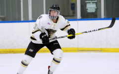 Lindenwood women's ice hockey player Taylor Girard takes the ice.   Photo by Don Adams Jr.