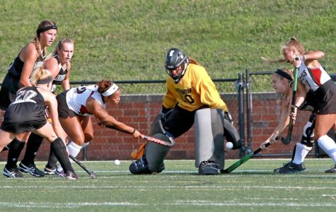 ECAC Defensive player of the week, goalie Skylar Starbeck. <br> Photo by Don Adams Jr.