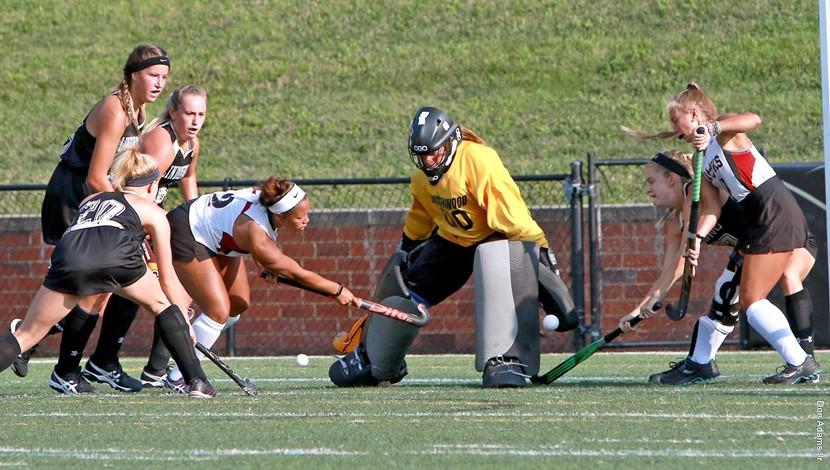 ECAC Defensive player of the week, goalie Skylar Starbeck.  Photo by Don Adams Jr.