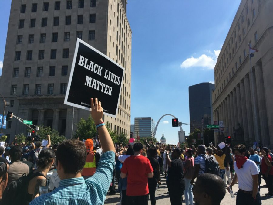 Protests continue regarding the verdict of the Jason Stockley case.  Photo by Ashley Higginbotham