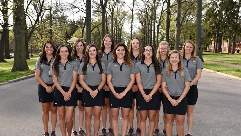 A team picture of the 2017  Lindenwood women's golf team. <br> Photo by Lindenwood Athletics
