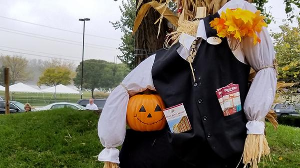 File photo: A scarecrow created by Drury Plaza Hotel employees in St. Charles on display at the