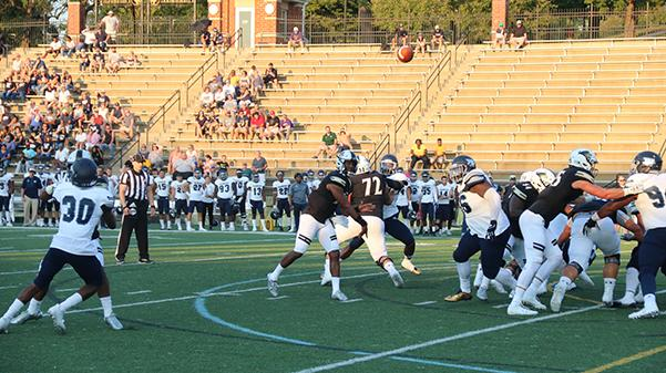 Quarterback+Najee+Jackson+throws+the+ball+against+Washburn+on+Sept.+16.+Lindenwood+lost+the+game+26-16.%0A%0APhoto+by+Maria+Escalona