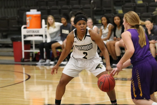 In+a+file+photo+from+2017%2C+Lindenwood+basketball+player+Charisse+Williams+%28No.2%29+plays+defense+against+the+St.+Louis+College+of+Pharmacy+on+Nov.+28+in+Hyland+Arena.+%0A%3Cbr%3E%0APhoto+by+Walker+Van+Wey.
