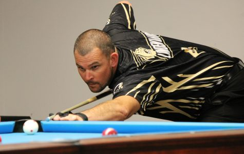 Lindenwood billiards mixes youth and experience for a 16-11 victory