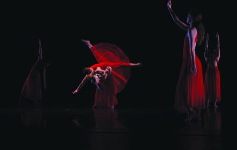 This file photo show a dance performance from Spring 2017 Dance Concert. The 2017 Fall Dance Concert runs from Nov. 16-18 in the Lindenwood Theater. <br> Photo by Lindsey Fiala