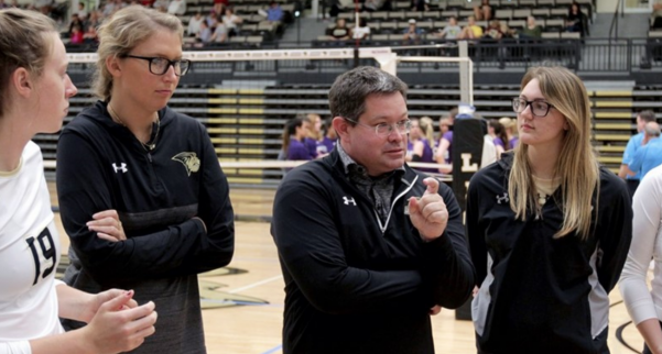 Lindenwood+women%27s+volleyball+head+coach+Will+Condon+addresses+his+team+in+Hyland+Arena.+The+Lions+finished+their+most+successful+season+in+NCAA+history+this+year%2C+it+was+Condon%27s+first+year+in+charge.+%3Cbr%3E%0APhoto+by+Don+Adams+Jr.