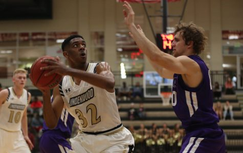 File photo. Lindenwood men's basketball player Dominique Dobbs led Lindenwood in its opening game against Bemidji State in the 2016-17 season with 19 points. Lindenwood defeated Bemidji State 62-44. <br> Photo by Carly Fristoe