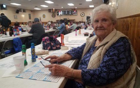 Mary Knott, my 89-year old grandma, at bingo on Tuesday night. <br> Photo by Kayla Drake