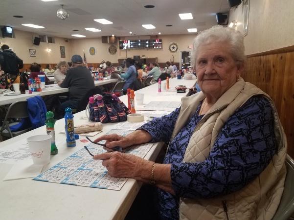 Mary+Knott%2C+my+89-year+old+grandma%2C+at+bingo+on+Tuesday+night.++Photo+by+Kayla+Drake