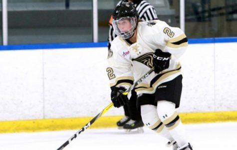 File photo of forward Kirsten Martin in a home Lindenwood Ice Hockey Game.<br>Photo by Don Adams Jr.