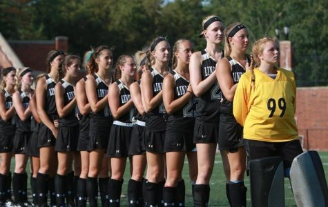 File photo: Lindenwood stands for the national anthem prior to a game at the Harlen C. Hunter Stadium. <br/> Photo by John Adams Jr.
