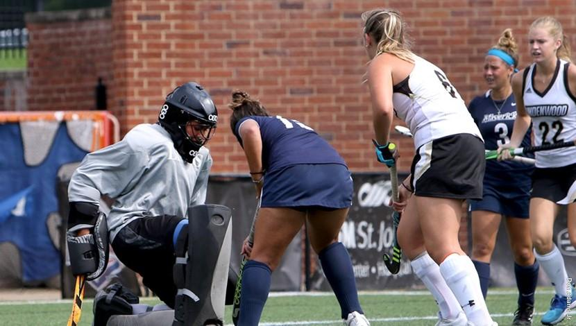 In+a+file+photo+from+2017%2C+Lindenwood+field+hockey+goalie+Skylar+Starbeck+makes+a+save+during+a+game+against+the+Mercy+College+Mavericks.+%3Cbr+%2F%3EPhoto+by+Don+Adams+Jr.+