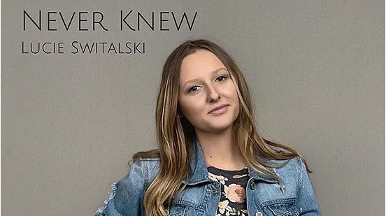 Lindenwood student Lucie Switalskis first single release: Never Knew.  Photo used with permission from Lucie Switalski.