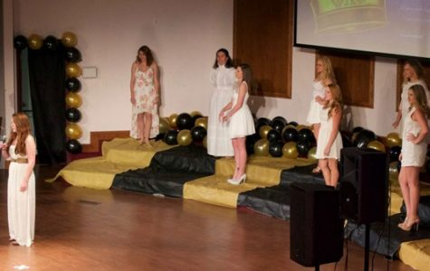 Competitors take the stage at the 2016 Miss Lindenwood competition at the Lindenwood University Cultural Center. The annual event is hosted by Phi Lambda Chi.  <br> Photo from the Miss Lindenwood Facebook page. </br>