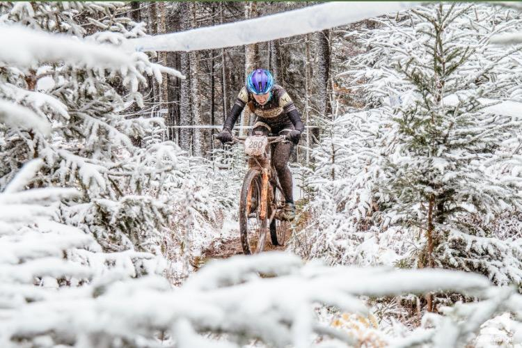 Hannah+Finchamp+rides+her+bike+through+icy+terrain+during+the+2016+USA+Cycling+Collegiate+Mountain+Bike+National+Championships+in+Snowshoe%2C+Virginia.+Finchamp+won+the+event+which+was+held+from+Oct.+21+-+23+2016.+%3Cbr%3E+Photo+provided+by+Hannah+Finchamp