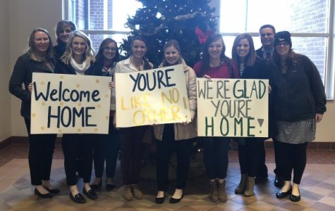 Lindenwood helps welcome home National Guard units, including one special soldier