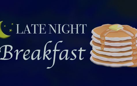 Campus Activities Board is hosting Late Night Breakfast on Monday Dec. 11 from 10 p.m. - 12 a.m. <br> Graphic by Michelle Sproat </br>