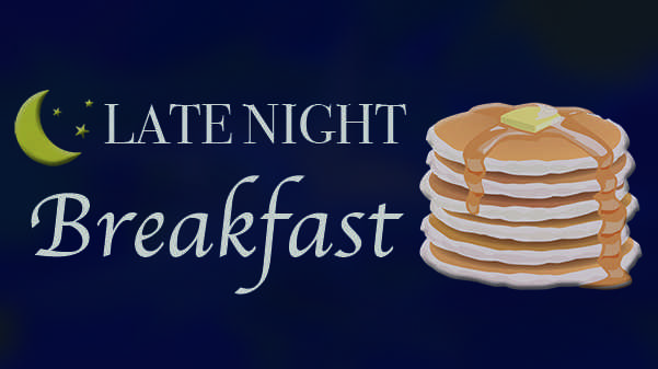 Campus Activities Board is hosting Late Night Breakfast on Monday Dec. 11 from 10 p.m. - 12 a.m.  Graphic by Michelle Sproat