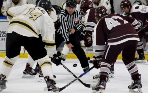 Men's hockey splits final series of 2017