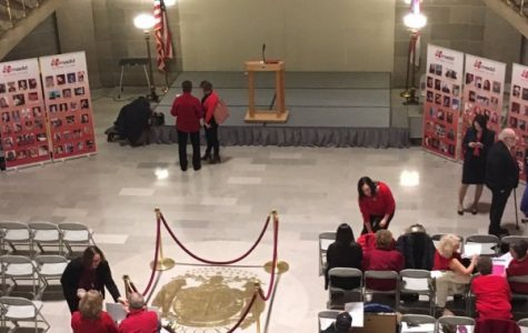 Members of MADD prepare to speak at the Missouri State Capitol Rotunda <br>Photo from MADD's Twitter