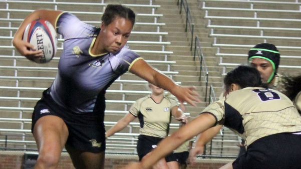 Lindenwood womens rugby players participate in the team's draft on Sept. 8 at the Harlen C. Hunter Stadium.   Photo by Juan Requena.