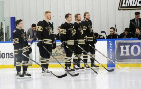 Men's ice hockey sweeps Central Oklahoma at last home series