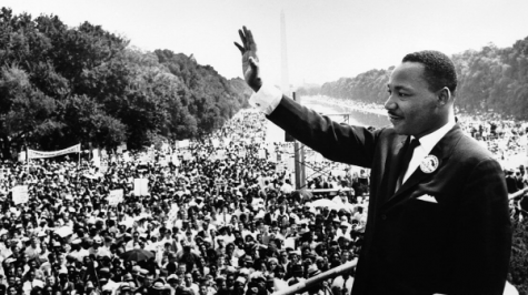 "Martin Luther King Jr. addressing the crowd at the Lincoln Memorial in Washington D.C. following his famous ""I Have A Dream Speech on Aug. 28, 1963. Lindenwood University is celebrating his work during ""MLK Week of Celebration"" Jan. 16-18.  <br> Photo from Wikimedia Commons. </br>"