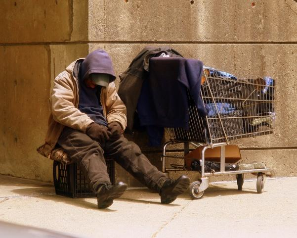 Photo of a homeless man, courtesy of wikimedia.com
